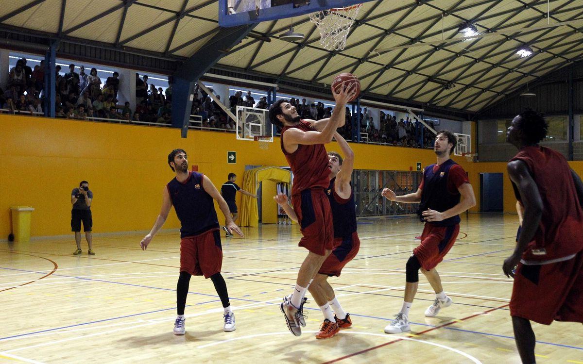 El Barça de bàsquet prepara la Supercopa Endesa a Arenys