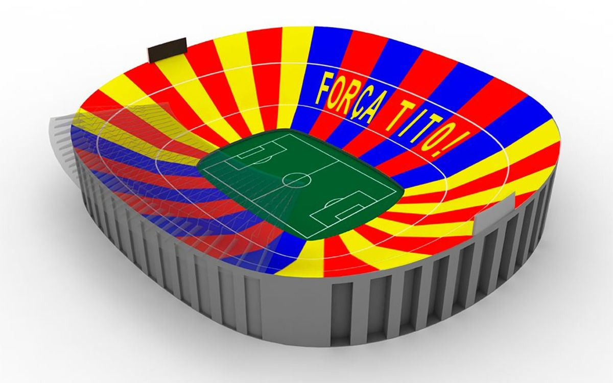 'Força Tito', the mosaic for the Clasico