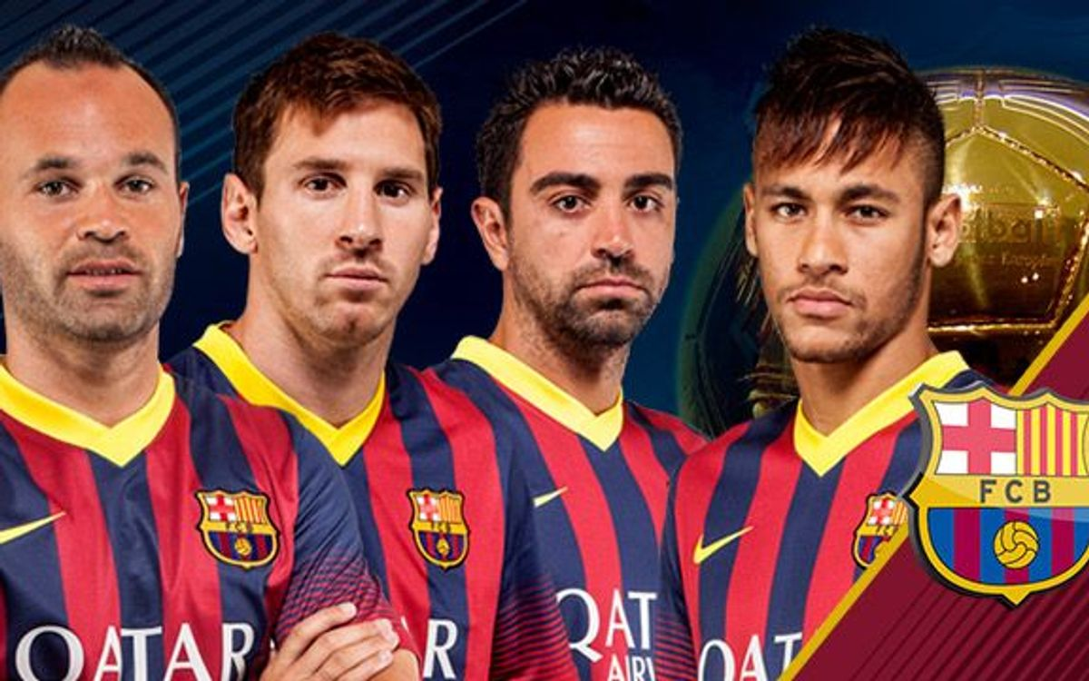 Messi, Iniesta, Xavi and Neymar named in the man list for Ballon d'Or