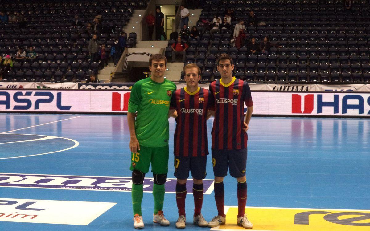 Marc Carmona va fer debutar ahir tres joves del futbol sala formatiu