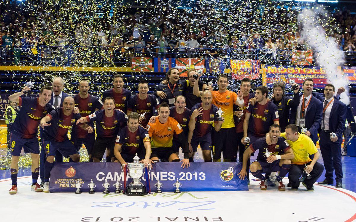 Barça Alusport wins Spanish Cup (6-3)