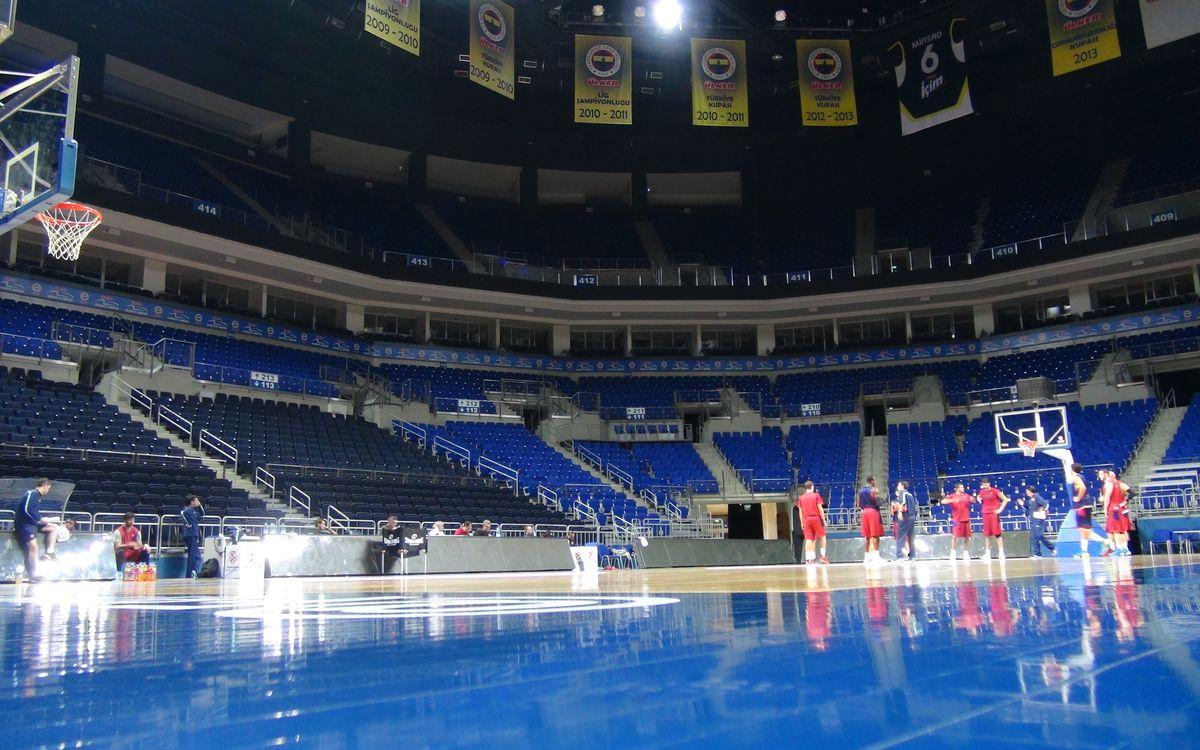 Primera presa de contacte amb el Fenerbahçe Ülker Sports Arena