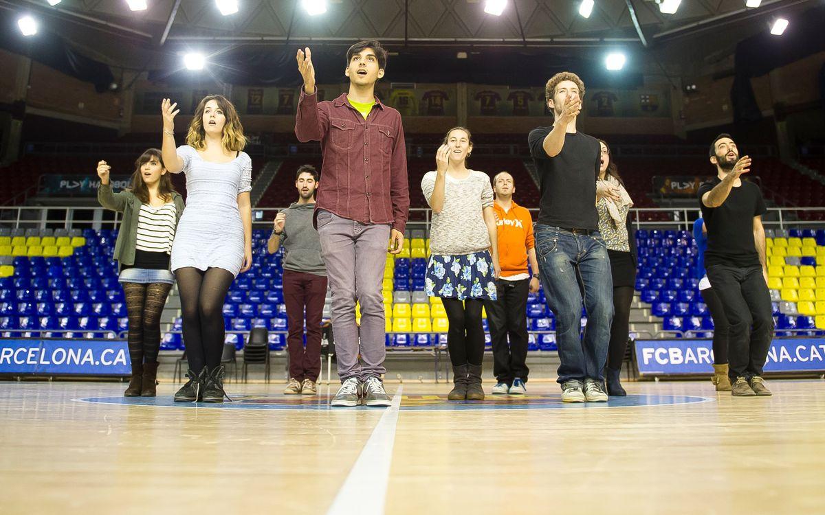 El grup vocal DeuDeVeu actuarà al Palau Blaugrana en el partit contra el Canàries
