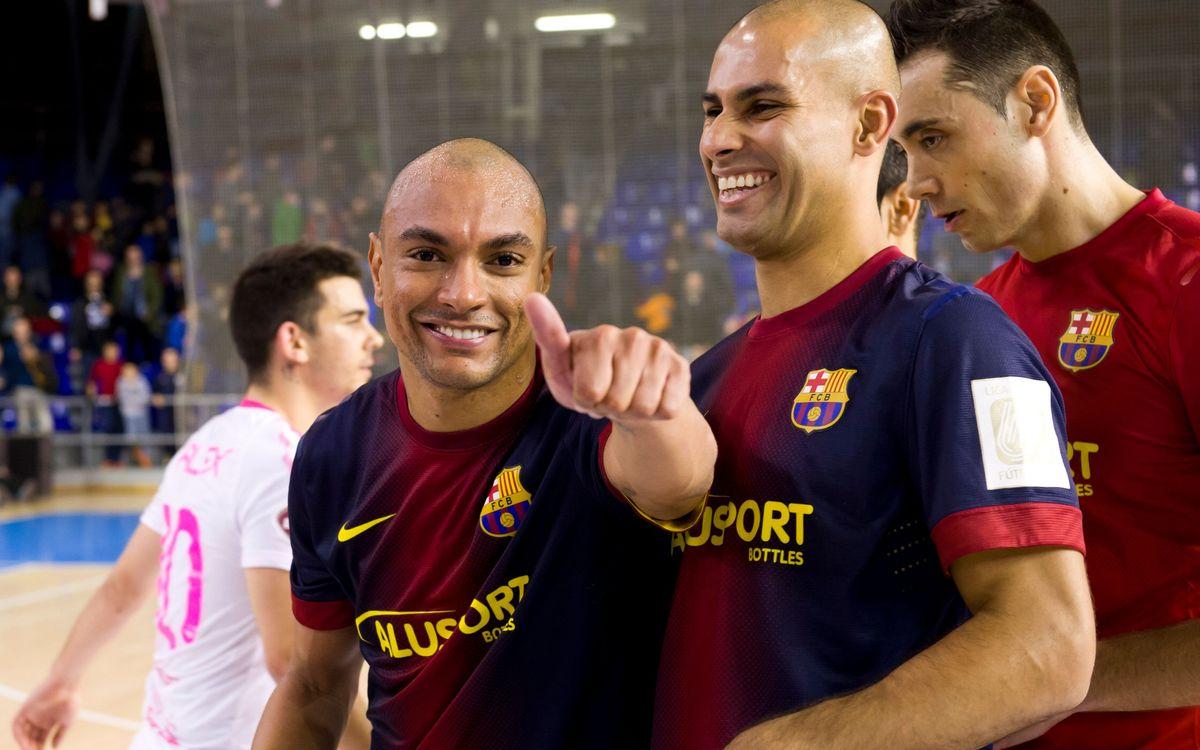 FCB Alusport v ElPozo: Nervy victory in the Palau (4-3)