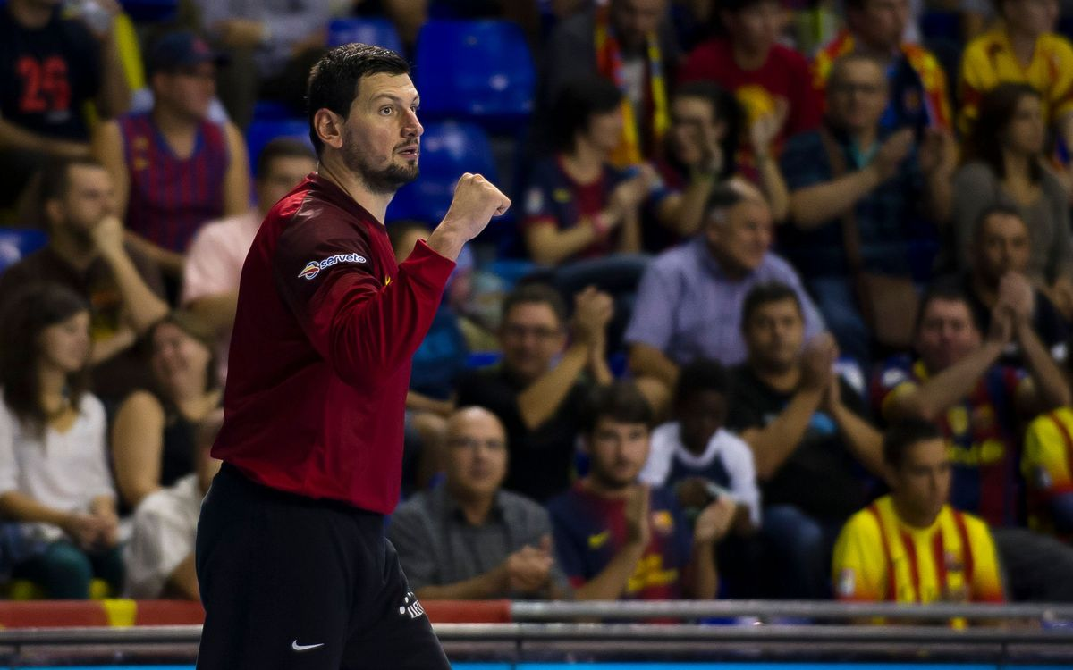 El porter del Barça d'handbol, Arpad Sterbik, baixa per a dissabte