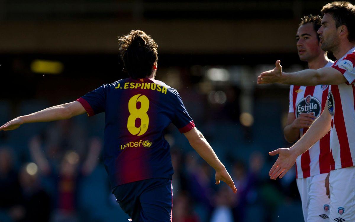 El Barça B s'enfronta al Lugo al Mini