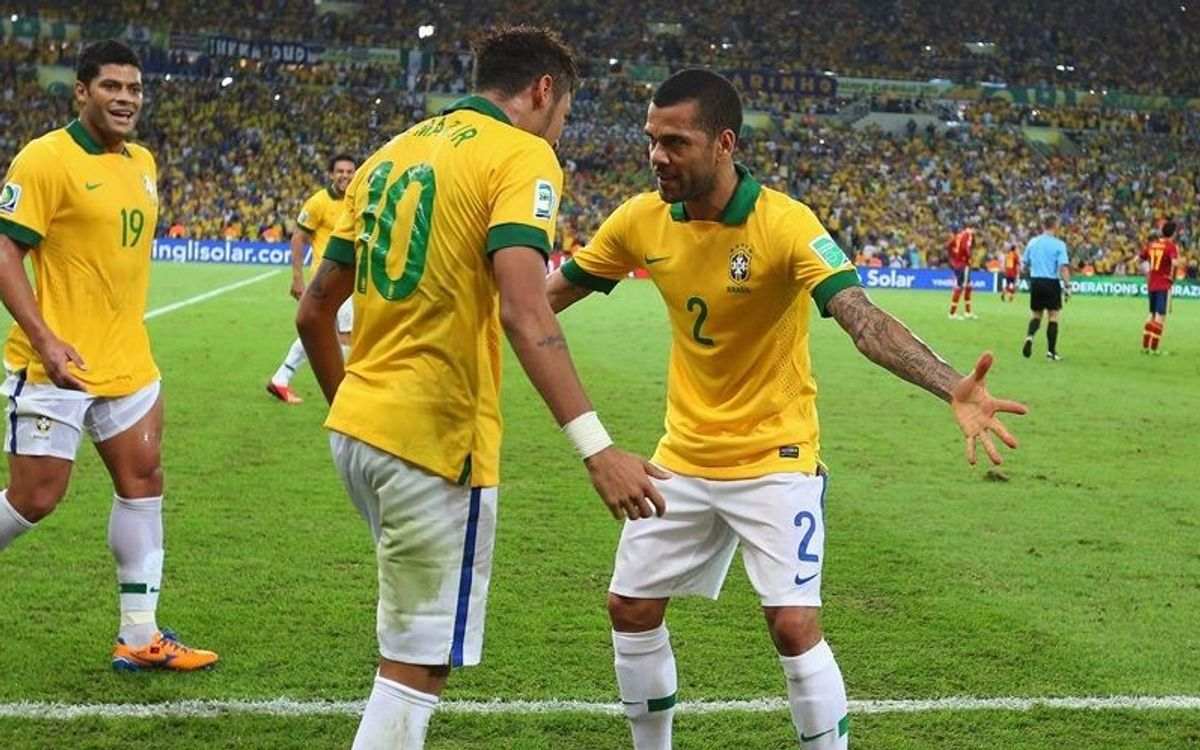 Neymar and Alves' Brazil win the 2013 Confederations Cup (3-0)
