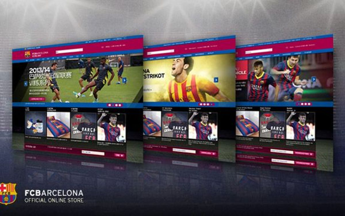 The FC Barcelona Official Online Store launches its platform in three new languages