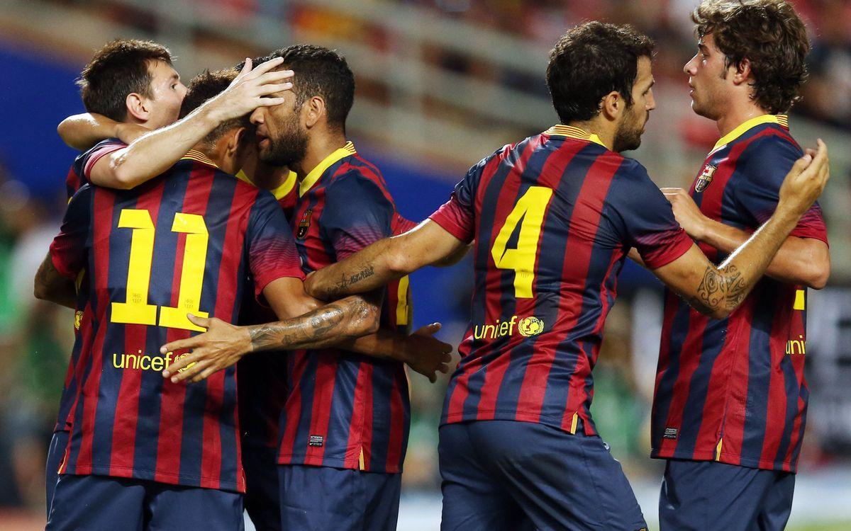 Barça's highest scoring preseason of the decade