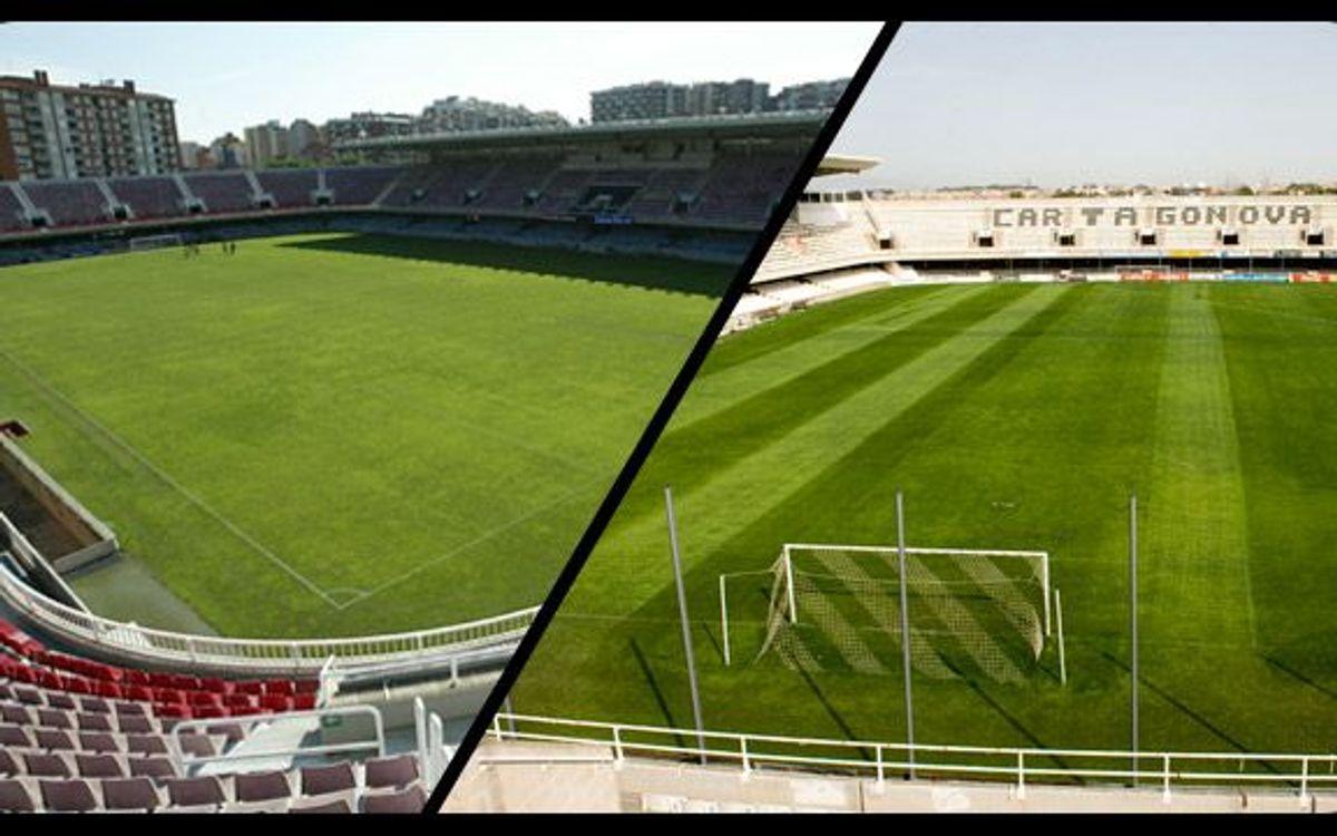 L'estadi del rival del Barça a la Copa és idèntic al camp del filial blaugrana