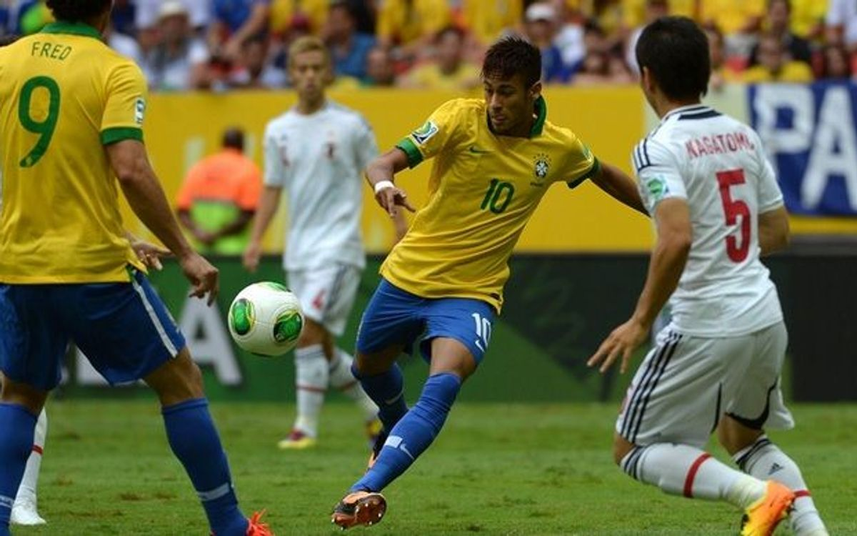 Victorious debut for Neymar and Alves' Brazil in the Confederations Cup (3-0)