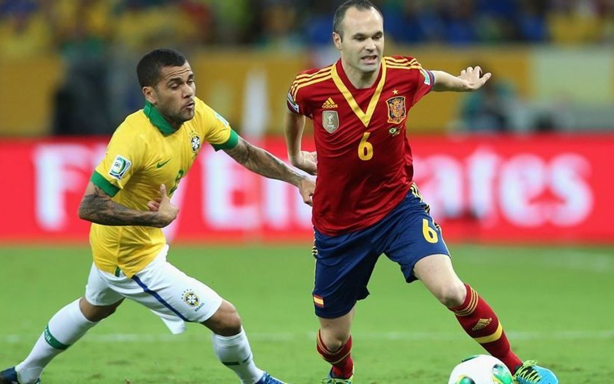 Confederations Cup: 10 goals and 3,460 minutes played by FC Barcelona players