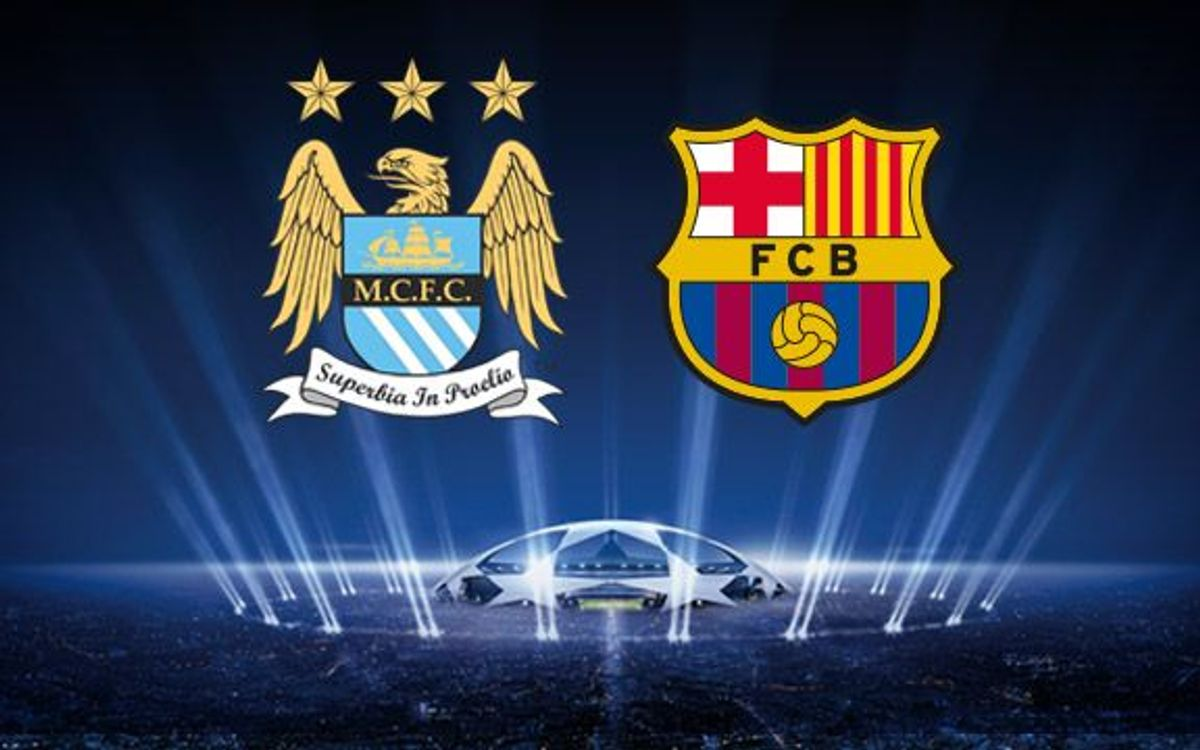 Manchester City, FC Barcelona's rival in the last 16 of the Champions League
