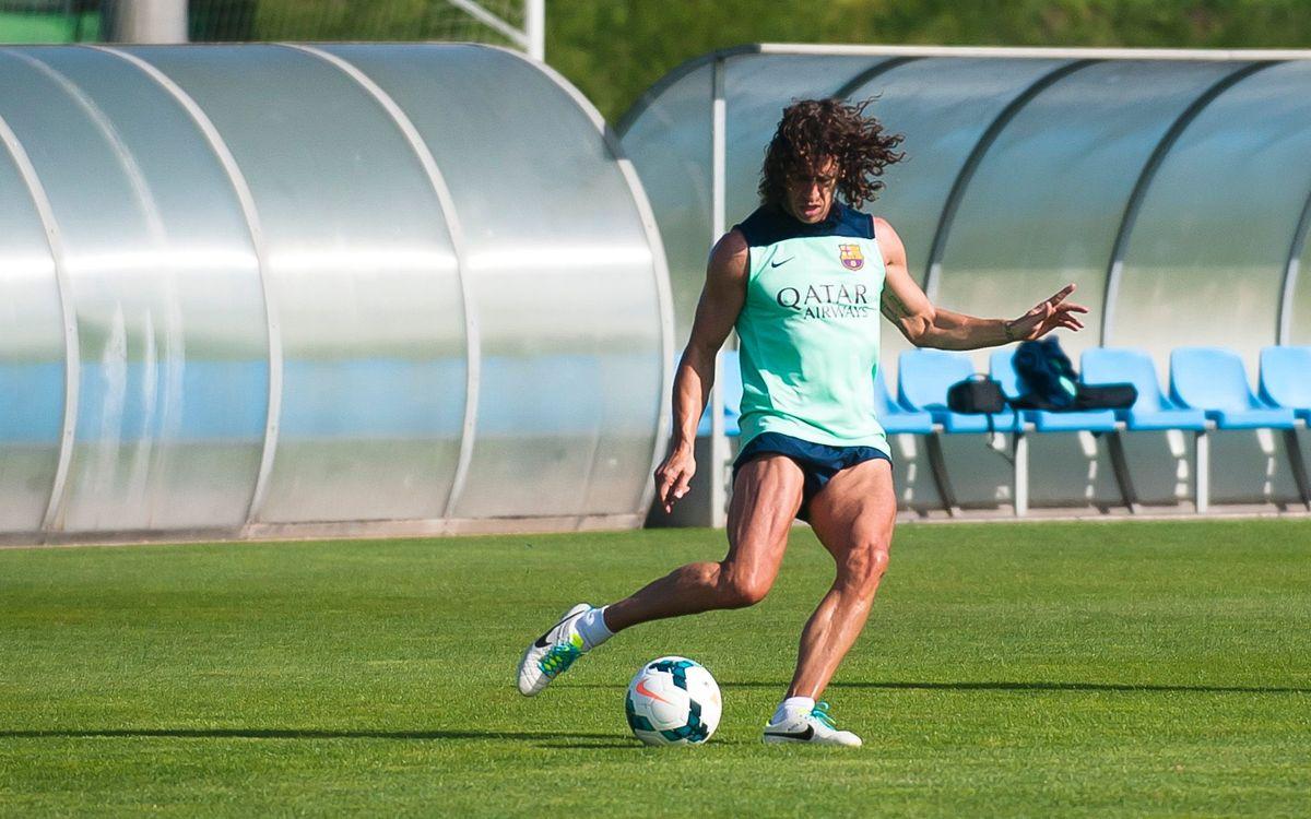 Carles Puyol segueix la seva feina de recuperació