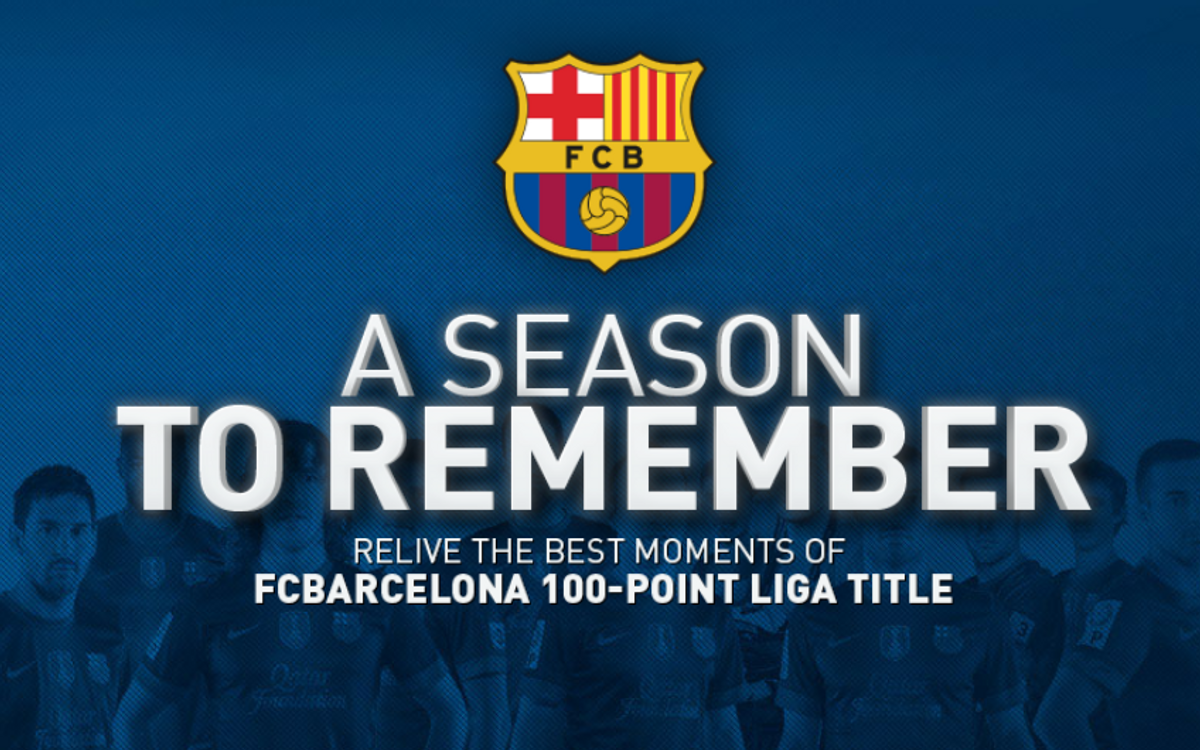 Interactive review of FC Barcelona's 100-point season