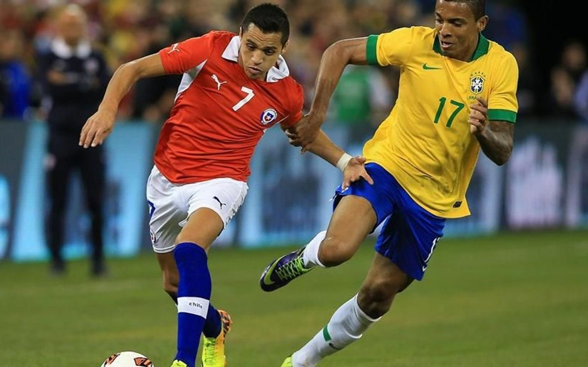 El Brasil de Neymar guanya la partida a la Xile d'Alexis