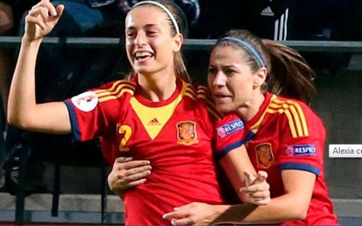 Anglaterra – Espanya: Intensitat i Alexia, sinònim de victòria en el debut a l'Eurocopa (2-3)