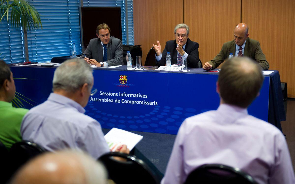 Sessions informatives sobre la reforma dels Estatuts, al setembre