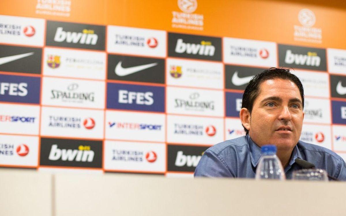 """Xavi Pascual: """"Arrencar l'Eurolliga amb victòria és molt important"""""""