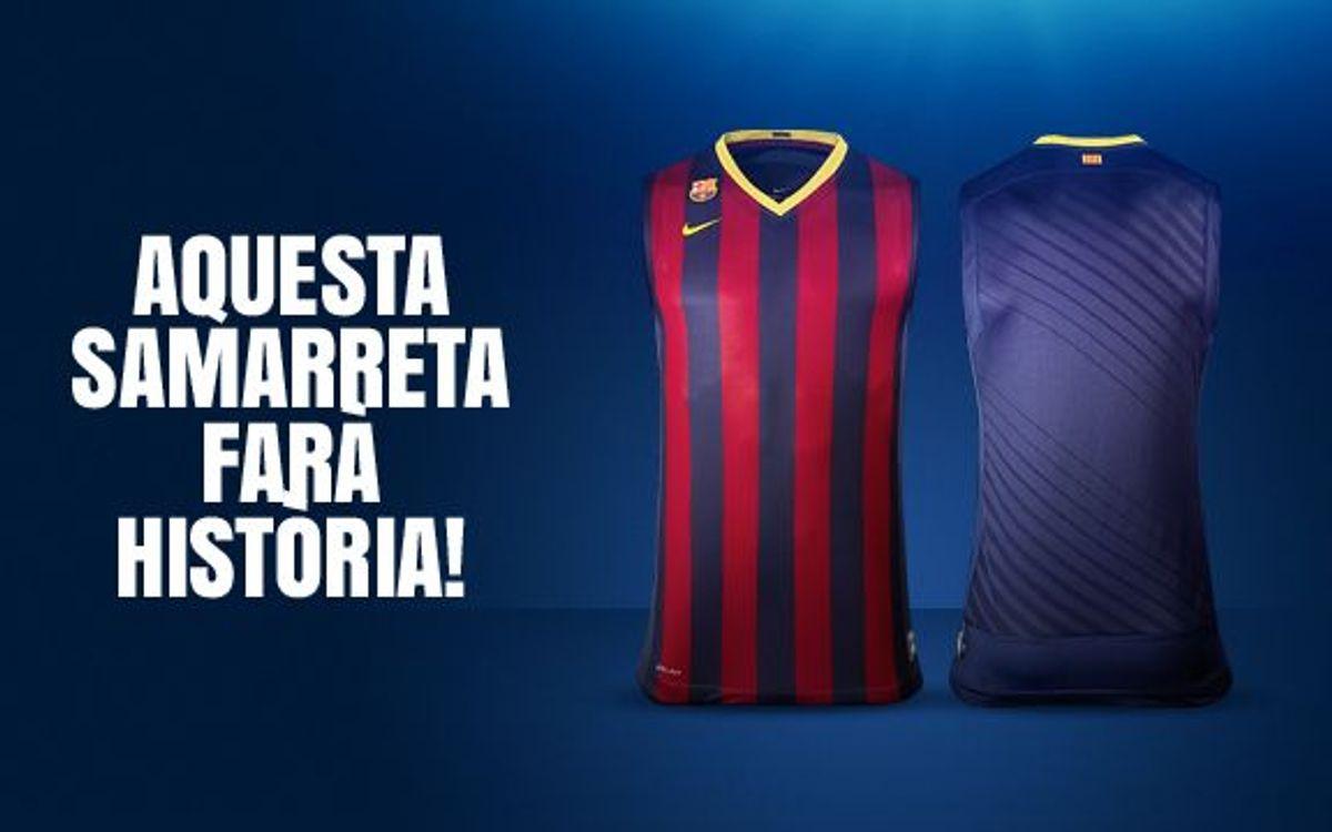 La samarreta oficial de la nova temporada del Barça de bàsquet, a la venda