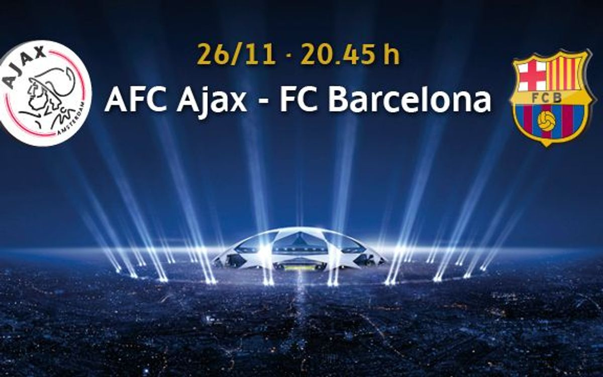 Ajax – Barça tickets available from 5 November