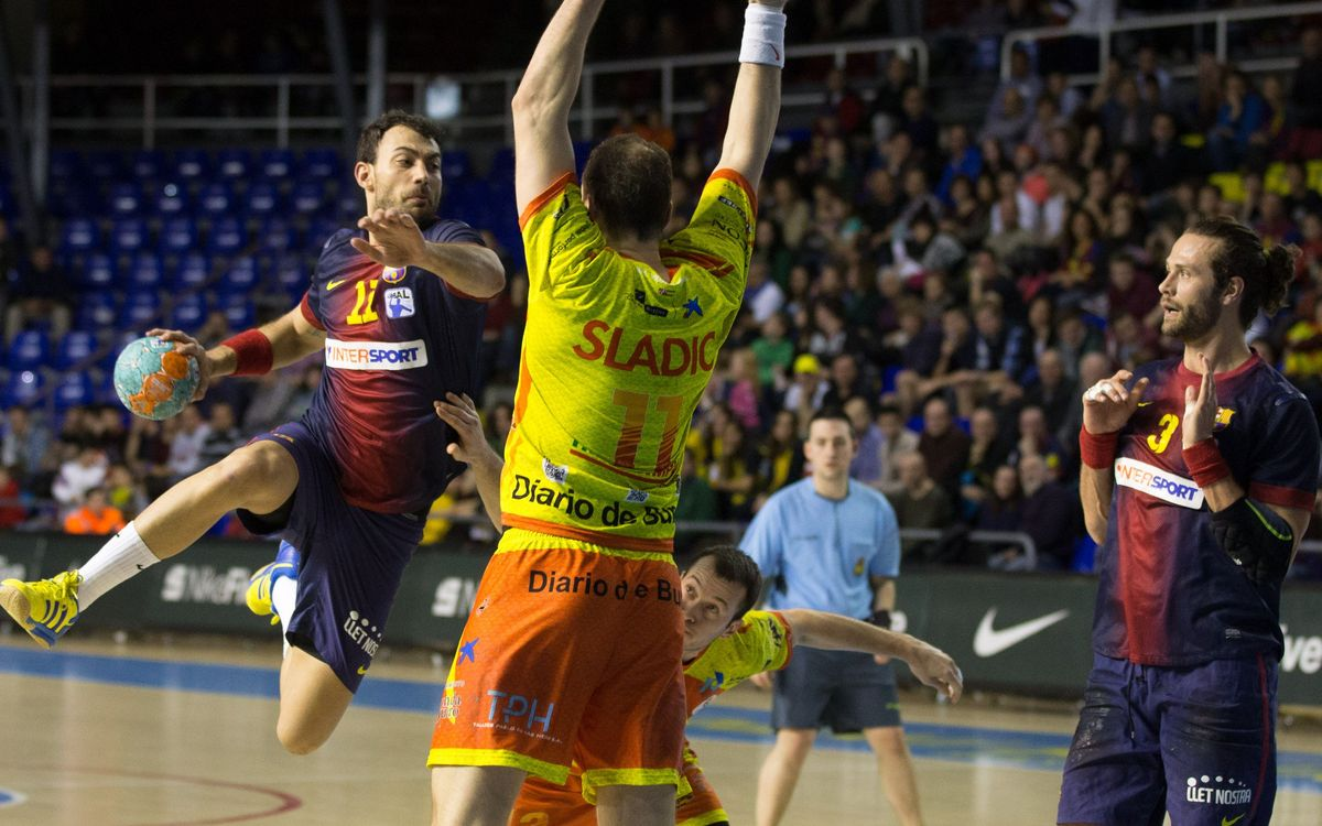 FCB Intersport – BM Villa de Aranda: Blaugrana claim victory after hard-fought match (31 – 27)