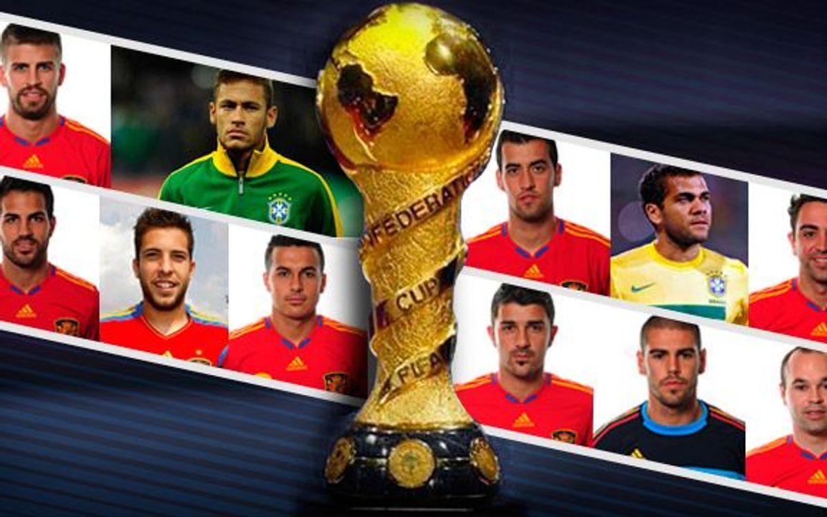 Onze culers afronten la Copa Confederacions