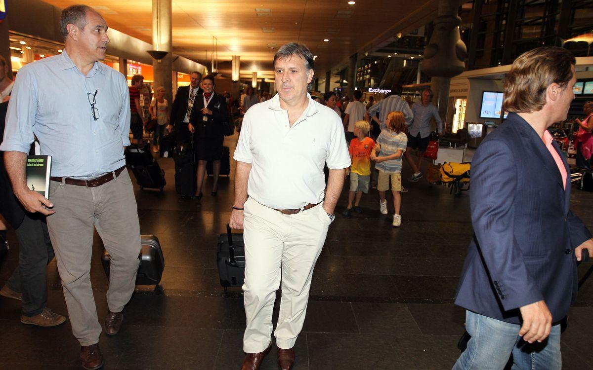Tata Martino arrives in Oslo