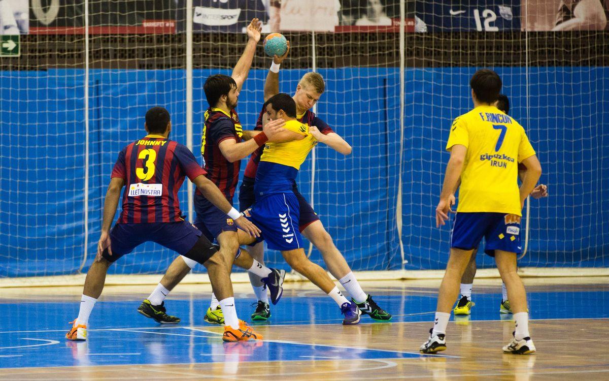 El FC Barcelona B d'handbol, a vuitens de Copa (23-21)
