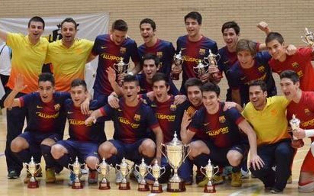 L'equip Juvenil del Barça Alusport revalida el títol de Campió d'Espanya