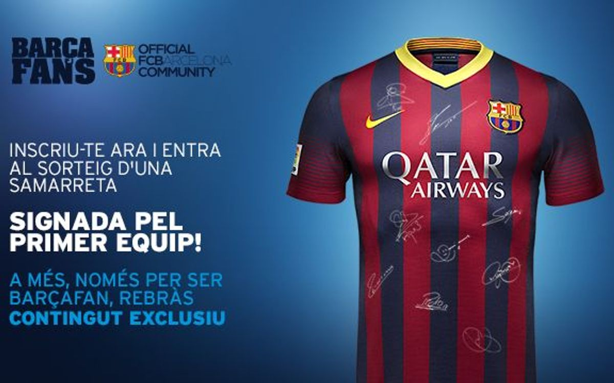 Join 'Barça Fans' and win a signed kit from the first team