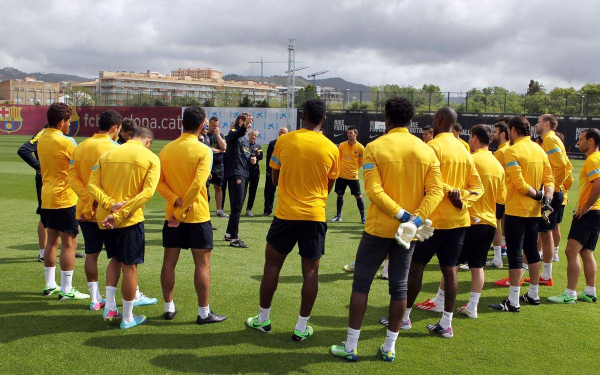 Toute l'équipe à Madrid