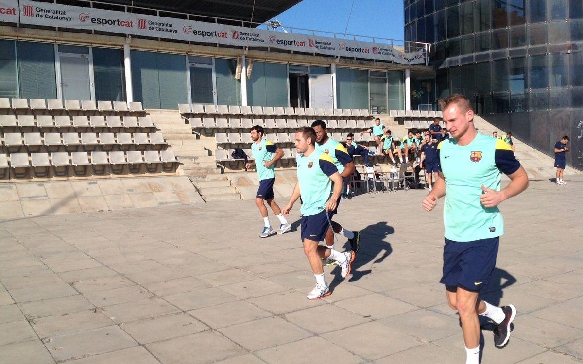 Retorn dels internacionals del Barça d'handbol en un dia diferent