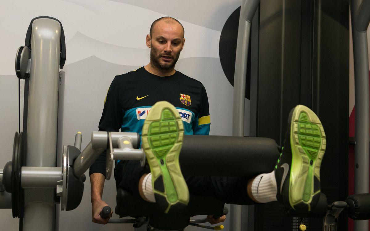 La primera setmana de treball del FC Barcelona d'handbol