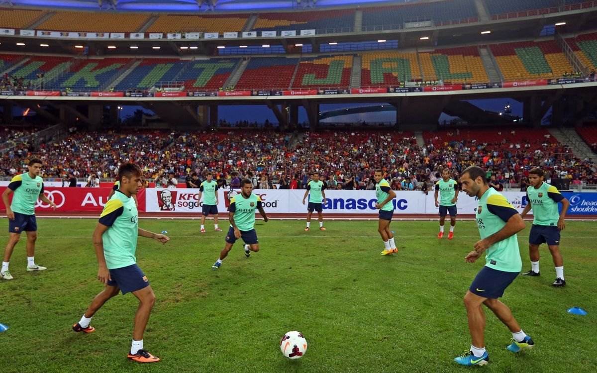 Training session at Bukit Jalil National Stadium