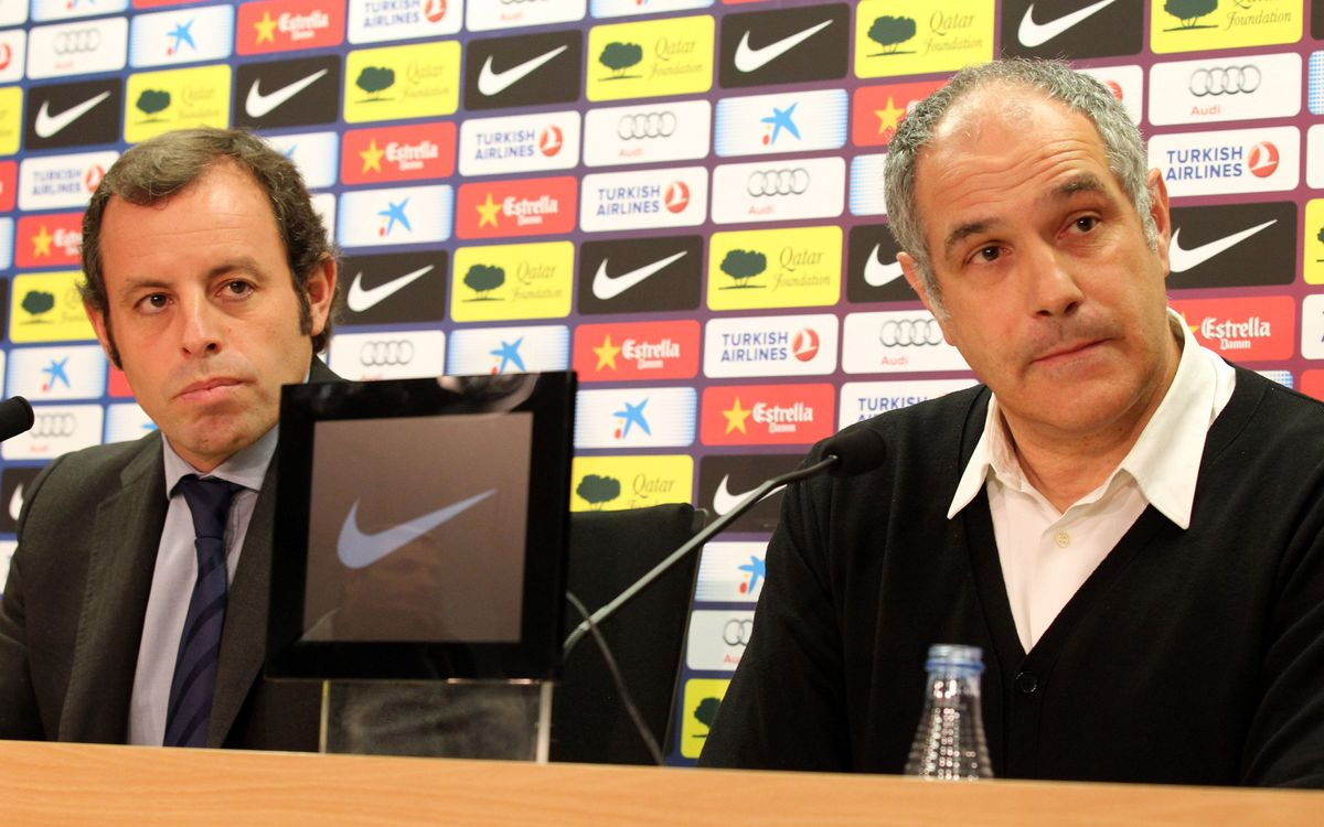 Rosell and Zubizarreta press conference this Friday at 20.30