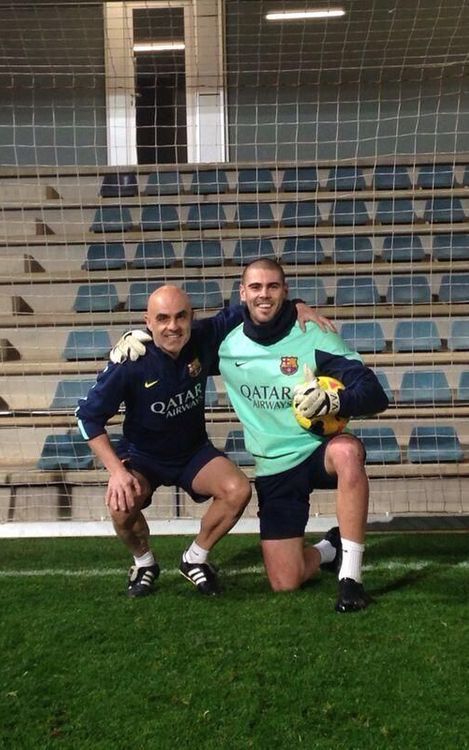 Valdés trains on Christmas Day
