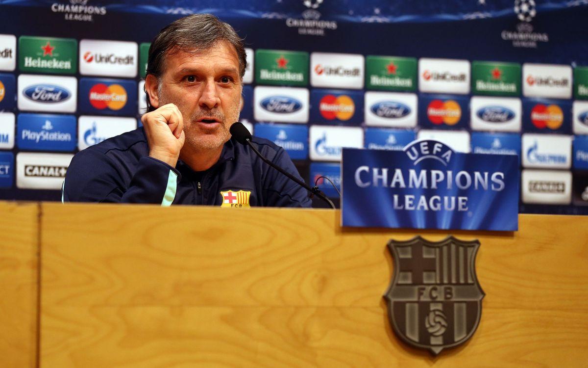 """Tata Martino: """"El partit contra el Milan és de vital importància"""""""