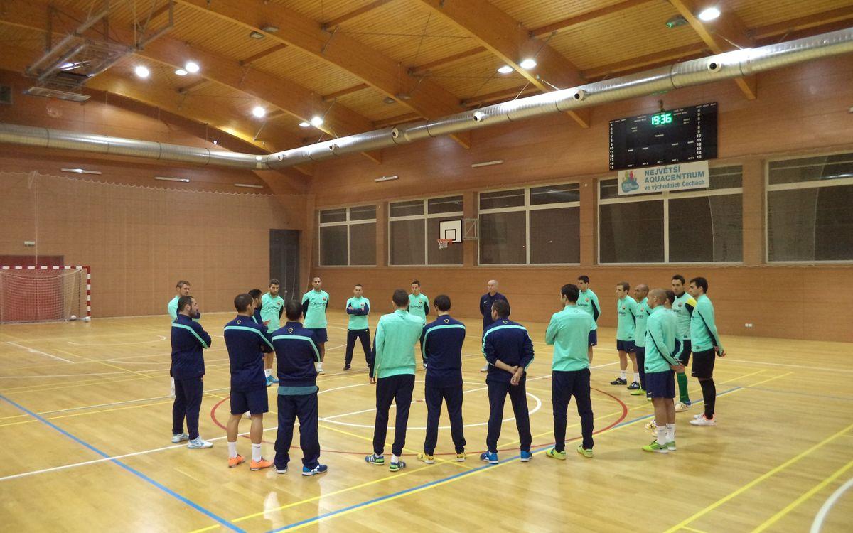 L'equip ha arribat a Pardubice i els de Marc Carmona han fet una suau sessió d'entrenament