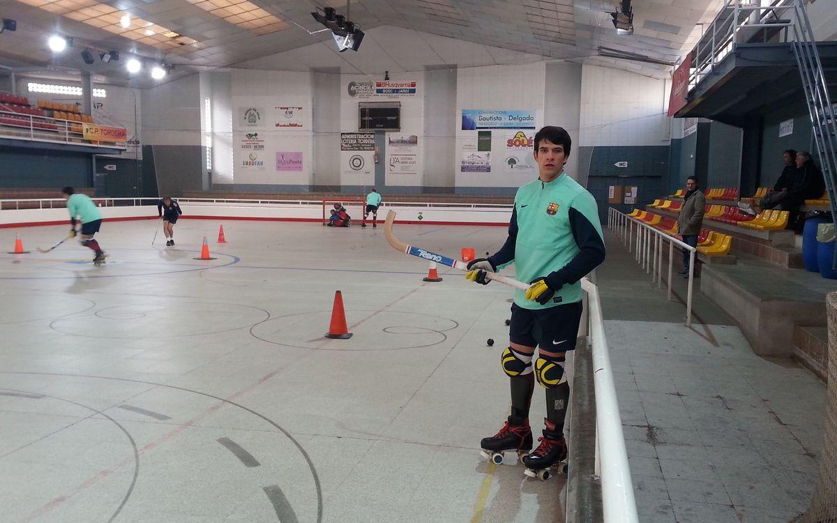 El Barça d'hoquei patins torna a la feina després de l'aturada per Nadal
