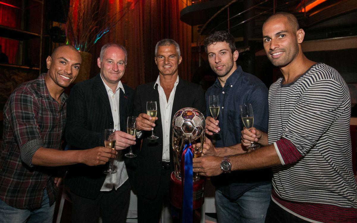 El Barça Alusport celebra en la intimitat l'últim èxit aconseguit: el títol de l'LNFS