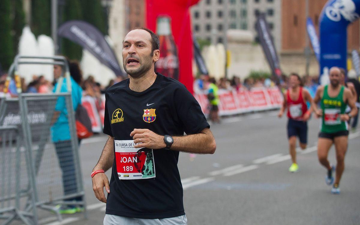 Corrent fem Barça a la Cursa dels Nassos