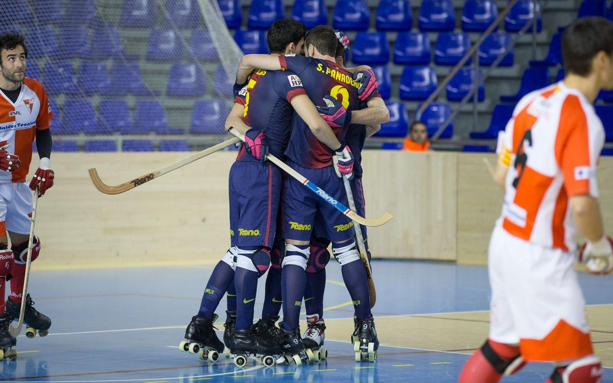 Barça's roller hockey team deafet Maçanet (6-0)