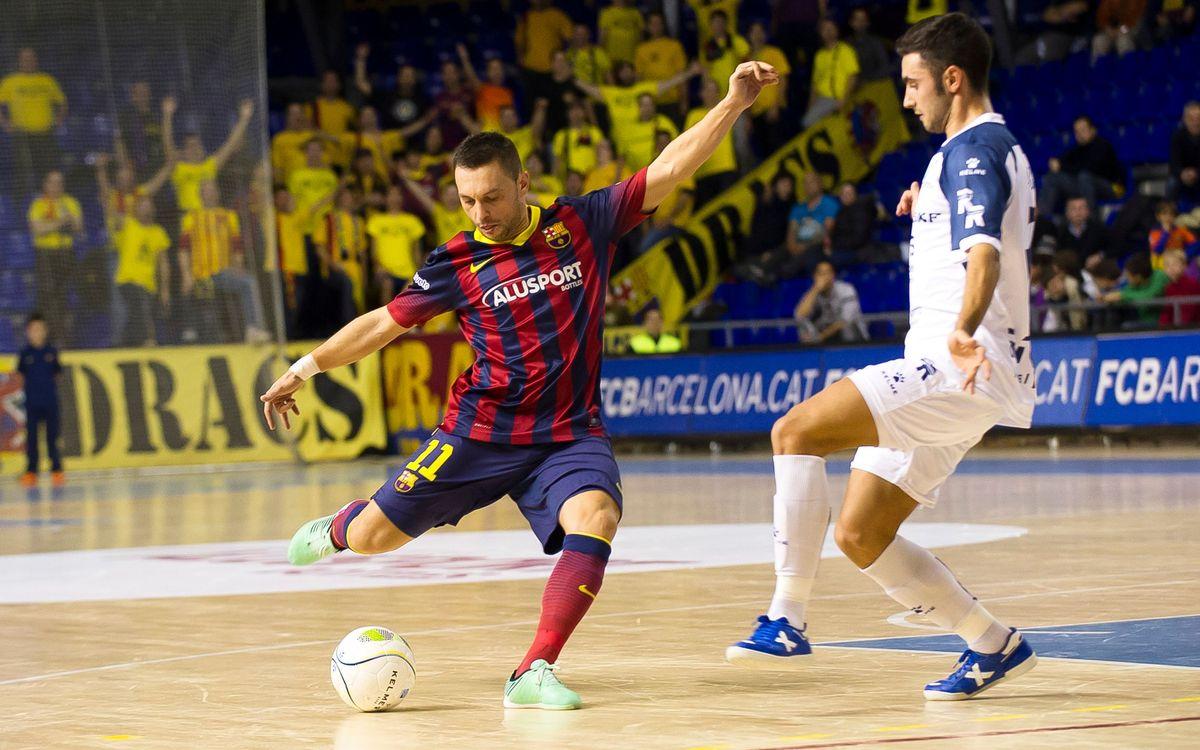 L'italobrasiler s'ha convertit en el màxim assistent del Barça Alusport aquesta temporada