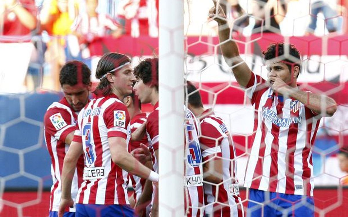 Atlético Madrid dominate before visiting the Camp Nou