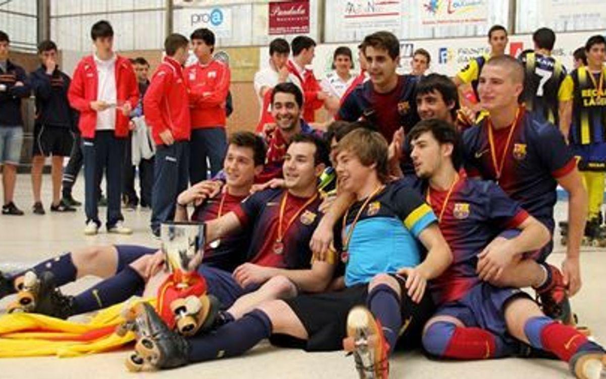 El FC Barcelona Júnior i l'Infantil, campions d'Espanya