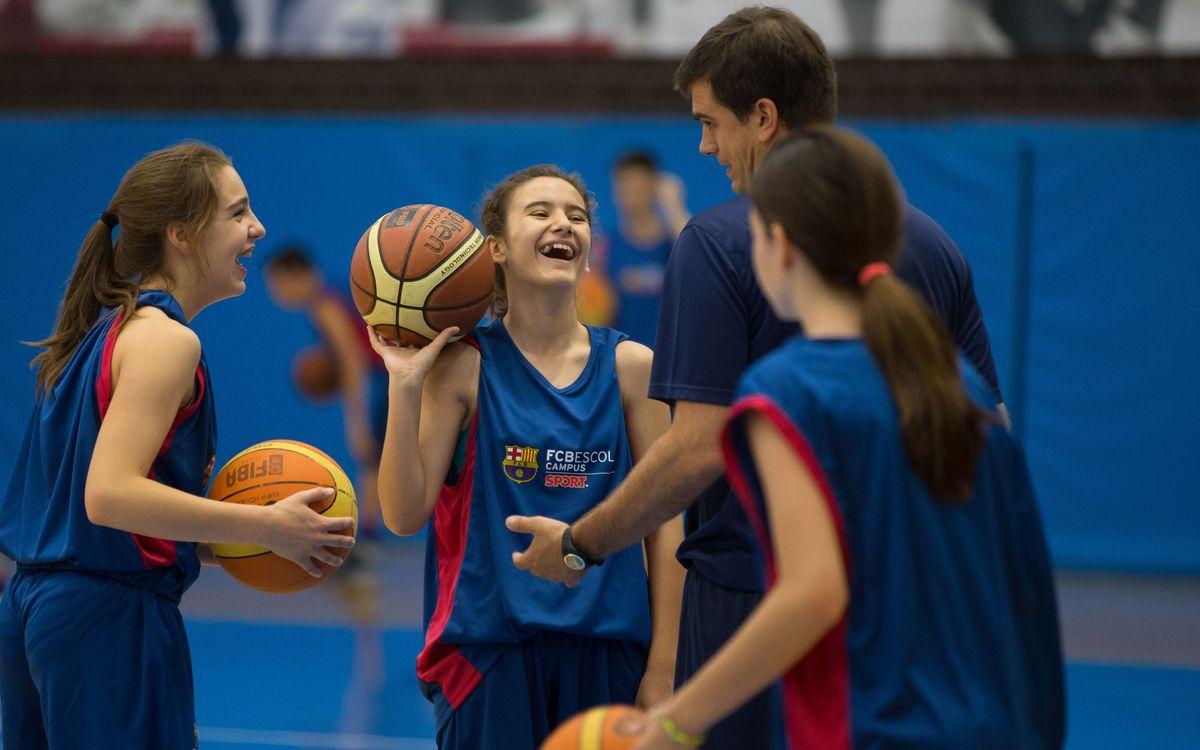 Èxit del campus de bàsquet de la FCBEscola