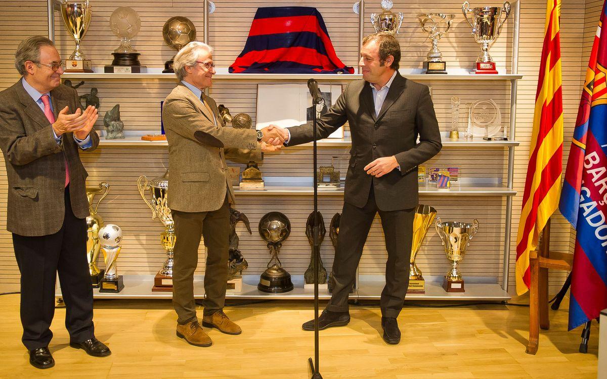 Sandro Rosell, a la inauguració de la remodelació de la Seu Social de l'Associació Barça Jugadors