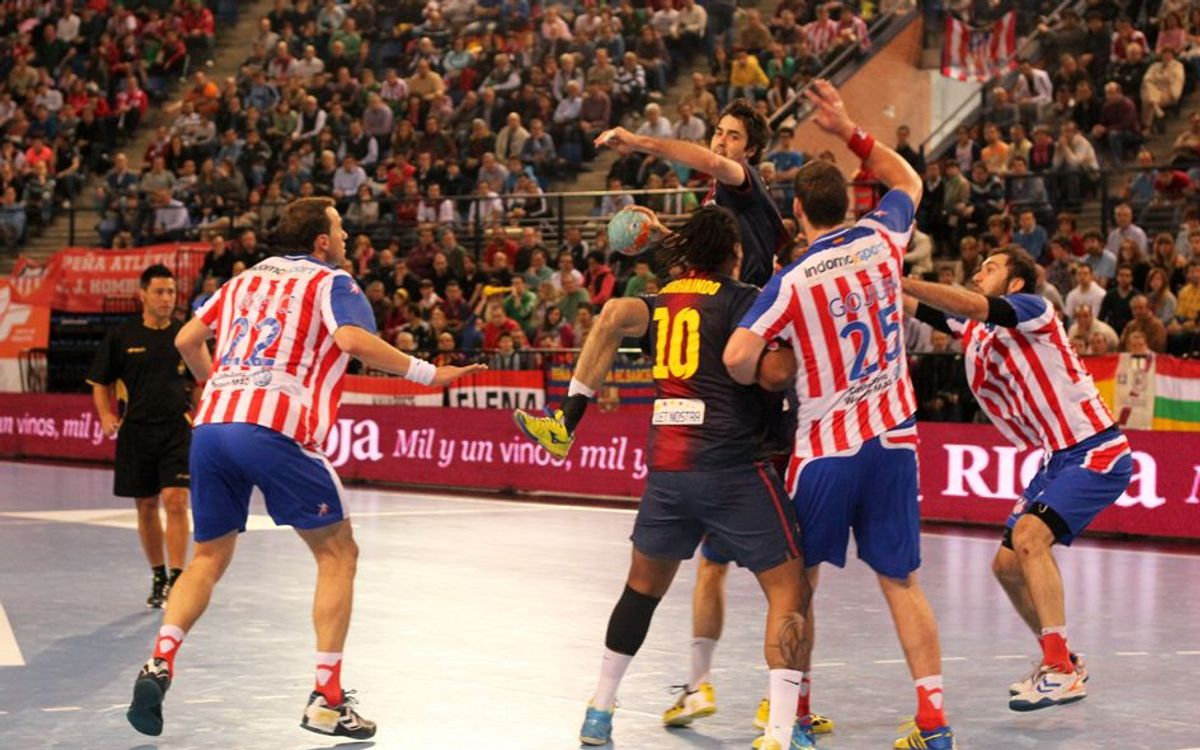 FCB Intersport – Atlético Madrid: Bad first half condemns the Blaugrana(28-31)