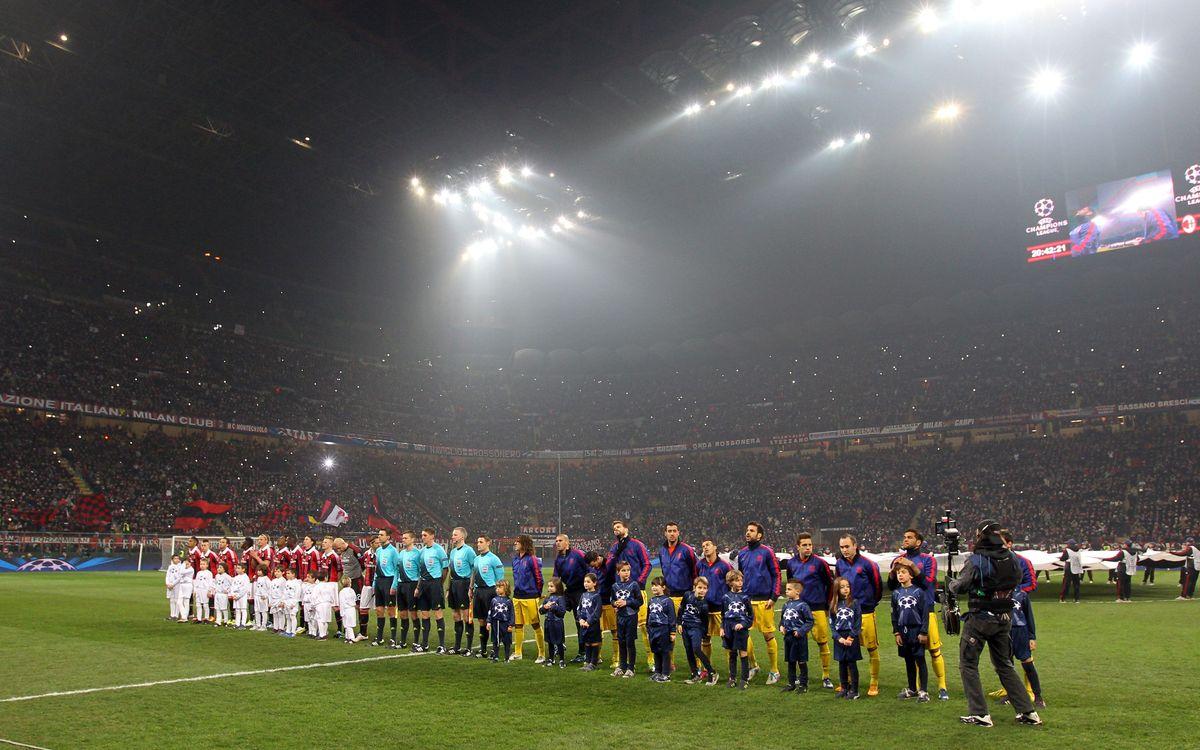 Milan-Barça: entrades adjudicades per a San Siro